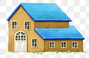 A Hand-painted Cabin - House Watercolor Painting PNG