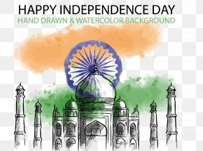 Vector Hand-painted India Independence Day - Indian Independence Movement Indian Independence Day Drawing PNG