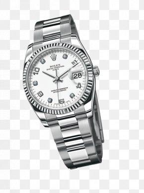 Watch - Rolex Datejust Platinum Watch Strap PNG