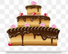 Cake Image - Birthday Cake Chocolate Cake Cream PNG