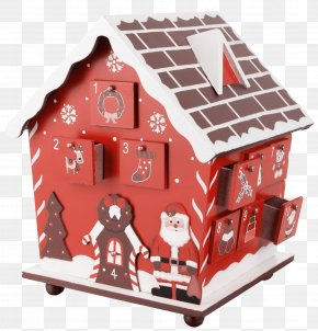 Box - Gingerbread House Advent Calendar Christmas PNG