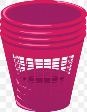 Cartoon Red Trash Can - Waste Container Cartoon PNG