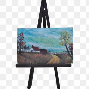 Painting - Easel Oil Painting Art PNG