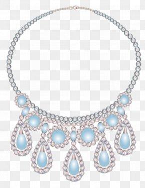 Creative Beautiful Diamond Necklace - Necklace Diamond Designer Creativity PNG