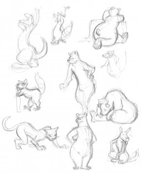 Drawings Of Animals - Visual Arts Gesture Drawing Line Art Sketch PNG