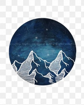 Creative Hand-painted Mountains - Art Watercolor Painting Drawing Printmaking PNG