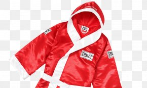 Red Silk Jacket House - Hoodie Supreme Everlast Satin Hooded Boxing Robe Boxing Glove PNG