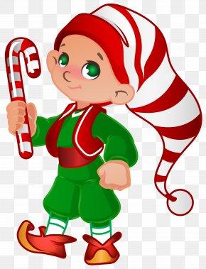 Elf Santa Helper Transparent Clip Art Image - Santa Claus Christmas Elf Clip Art PNG