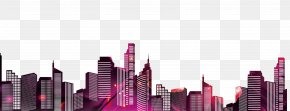 City Silhouette - Silhouette City Illustration PNG