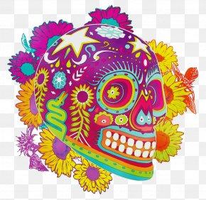 Magenta Skull - Bone Skull Magenta PNG
