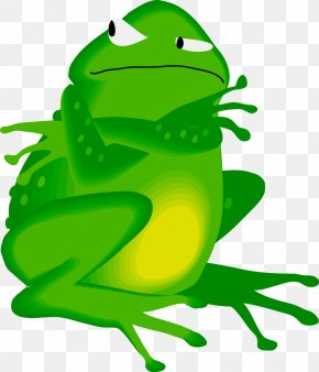 Frog On Lily Pad Clipart - Edible Frog Amphibian Clip Art PNG