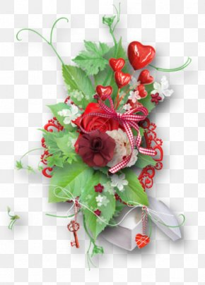Valentine's Day - Floral Design Valentine's Day Love Flower Bouquet PNG