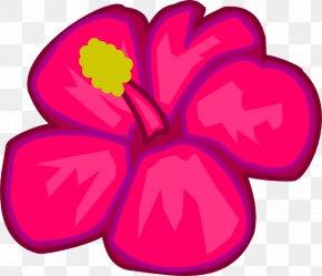 Pink Flower Clipart - Hawaiian Lei Flower Clip Art PNG