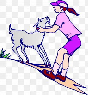 Sports Health - Goat Sheep Cartoon Clip Art PNG