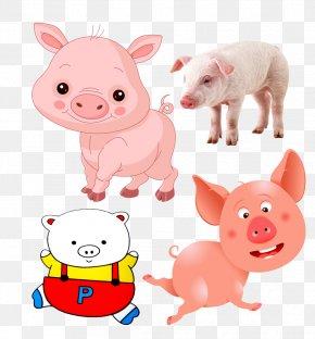 Pig Theme Image - Domestic Pig Comics Drawing Clip Art PNG