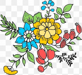 Flower Drawing - Flower Drawing Art Clip Art PNG