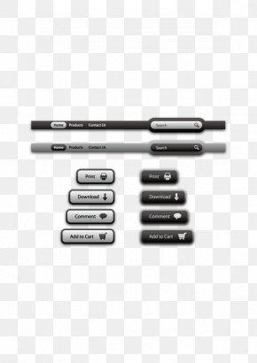 Vector Network Menu - Download Web Page Computer File PNG