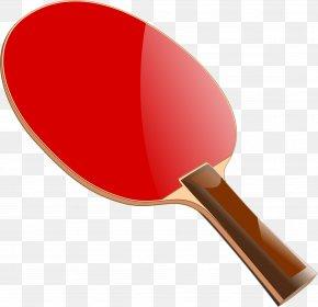 Red Table Tennis Racket - Table Tennis Racket Clip Art PNG