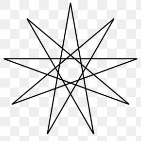 Star - Enneagram Five-pointed Star Star Polygon PNG