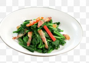 Bacon Kale Seedlings - Spinach Salad Chinese Cuisine Fruit Salad Namul Chinese Broccoli PNG
