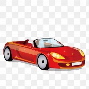 Red Sports Car - Sports Car Ferrari PNG