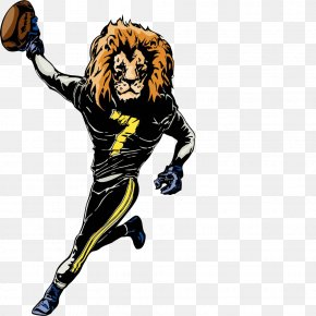 The Lion. - Lion Mascot Rugby Football Clip Art PNG