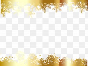 Vector Painted Golden Snowflakes - Snowflake Gold Wallpaper PNG