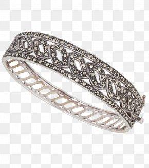 Bracelet - Bangle Silver Jewellery Bracelet Marcasite PNG
