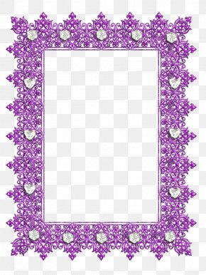 Purple Frame - Picture Frames Purple Decorative Arts Clip Art PNG