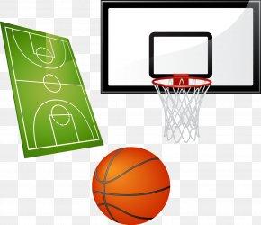 Basketball - Basketball Court Sports Equipment PNG