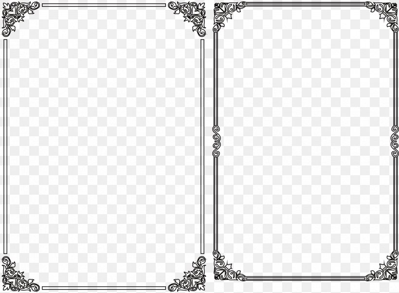 Black Frame Segmentation Line, PNG, 2469x1813px, Black And White, Area, Black, Computer Network, Image Segmentation Download Free