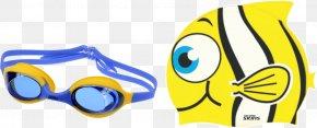 Swimming Goggles - Swim Caps Swimming Silicone Goggles Knit Cap PNG