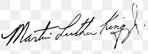 Martin Luther - African-American Civil Rights Movement Martin Luther King Jr. Day Civil Rights Movements African American Signature PNG