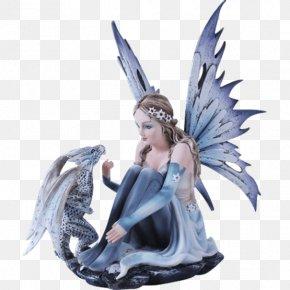 Fairy - Fairy Winter Snowflake Dragon Figurine PNG