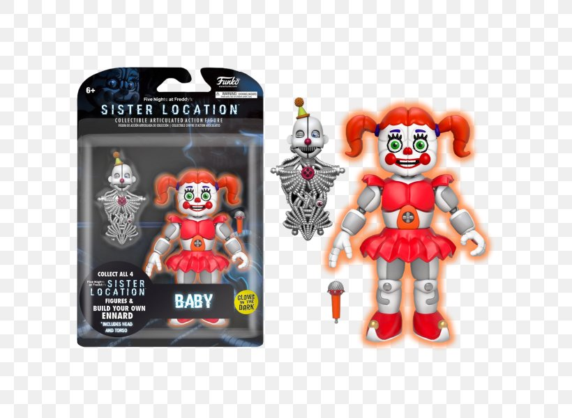 Five Nights at Freddy/'s Sister Location Funtime Freddy Articulated Figure