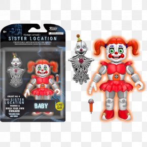 Five Nights At Freddy's Sister Location - Five Nights At Freddy's: Sister Location Five Nights At Freddy's 4 Funko Five Nights At Freddy's 5 Inch Articulated Action Figure PNG