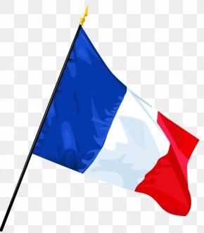 Blue And Red French Flag - Flag Of France Clip Art PNG