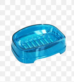Transparent Blue Soap Dish With Holes - Soap Dish Blue Bathroom PNG