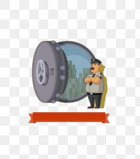 Police Flat Design - Bank Vault Safe Illustration PNG
