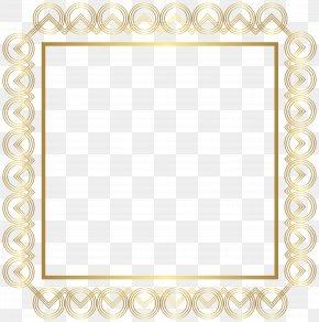Gold Border Frame Clip Art Image - Picture Frame PNG