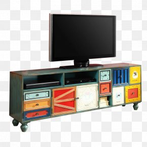 Colorful Wooden TV Cabinet To Do The Old Board - Television Cabinetry PNG