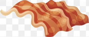 Fried Bacon Vector - Chicken Fried Bacon Meat Frying PNG