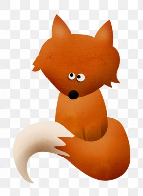 Fox - Red Fox Whiskers Cartoon Illustration PNG