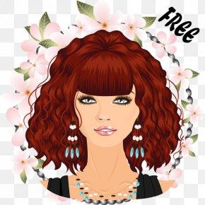 Korean Dress Up Games - Red Hair Hair Coloring Black Hair Brown Hair Illustration PNG