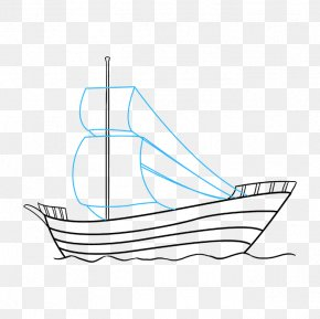 Ship - Drawing A Pirate Ship Piracy Caravel PNG