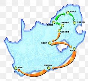 Arrow South Africa Map - South Africa Map Arrow PNG