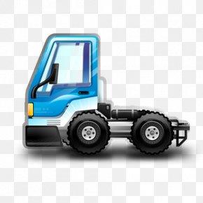City Truck Blue - Wheel Machine Automotive Exterior Model Car PNG