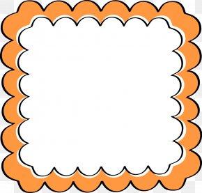 Orange Frames Cliparts - Picture Frames Orange Clip Art PNG