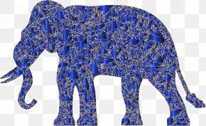 Modern Art - Silhouette African Elephant Clip Art PNG
