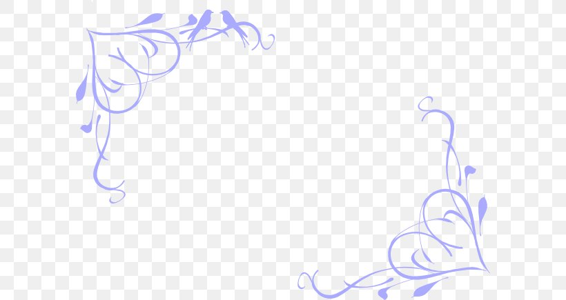 Clip Art Borders And Frames Openclipart Vector Graphics, PNG, 600x435px, Borders And Frames, Blue, Calligraphy, Heart, Ornament Download Free